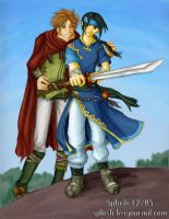 FE7 - Matthew x Guy 2 by splashgottaito