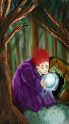 The forest wizard by corleno