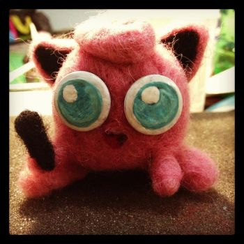 Needle Felting: Jigglypuff by Avi-Ayuni