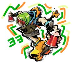 Jet Set Radio fanart : Yoyo by Rafchu