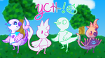 New Neighbors .::YCH - OPEN::. by scareakeets