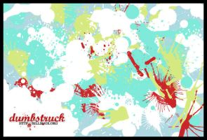 x brushes - splatter by xdumbstruck