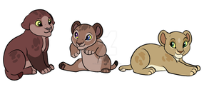Three New Cub Adopts (CLOSED) by Claire-Cooper