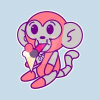 DMO EATING ICECREAM shirt design by IDROIDMONKEY