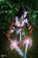 Blade Dancer! Dark Elf in draconic- Lineage II by dani-foca
