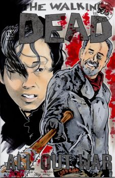 Walking Dead Glenn and Negan Sketch Cover by sullivanillustration