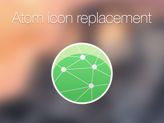 Atom editor icon replacement by renegadevi
