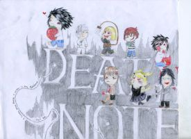 Death Note: Characters by NocturnalPanda19