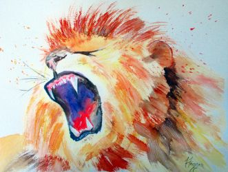 Lion's roaring by TwinDrops
