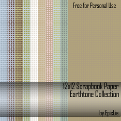 12' Scrapbook Paper_Earthtone1 by EpicLie