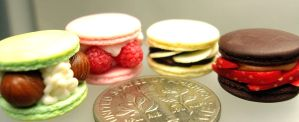1 4 fruit filled macarons by Snowfern