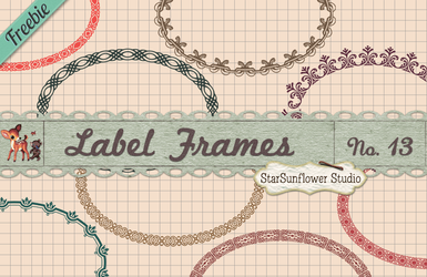 Free Oval Frame Shapes Vectors and PNG Clipart by starsunflowerstudio