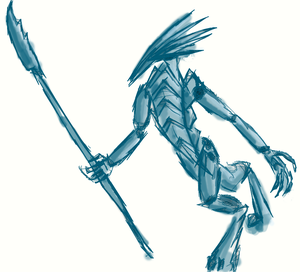 2014/1/3 Birdy beastman with spear by PCRaven