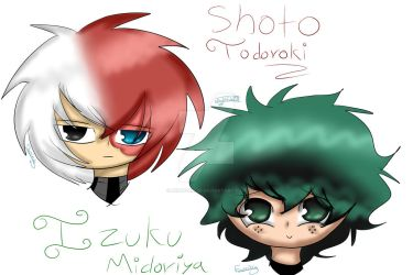 Shouto Todoroki e Izuku Midoriya by NightGirl28