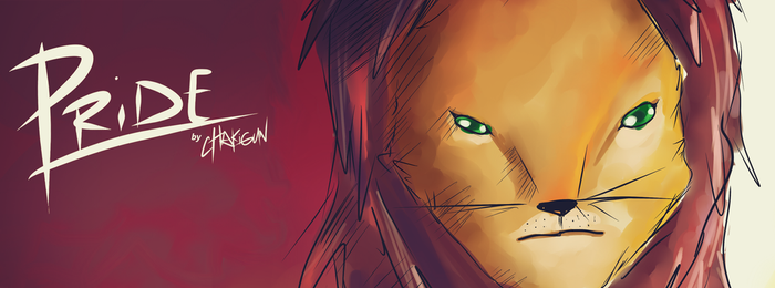 PRIDE - Lion Cover Photo for Facebook by cHakigun