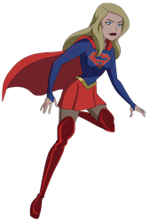 CW's Supergirl in DCAU by Glee-chan