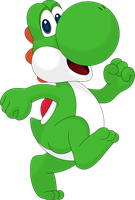 Yoshi the happy barefoot dino by Porygon2z