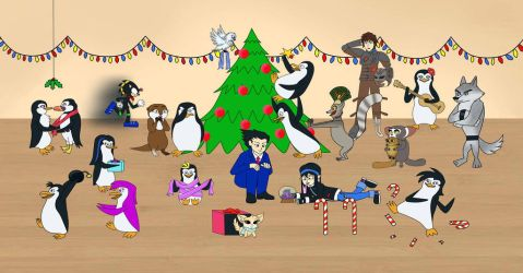Penguins Of Madagascar HQ (Christmas) by ChaosIce