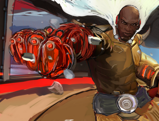 Doomfist  X One Punch Man by Fataley