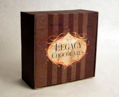 Legacy Chocolates box top by additivecolor