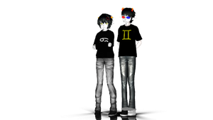 [MMD x Homestuck] Karkat Vantas and Sollux Captor by KanekiAru