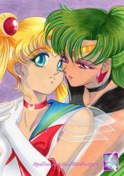 Sailor Pluto and Sailor Moon - You belong to me by SilverSerenity1983