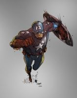 Captain America by scroll142
