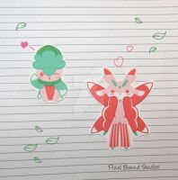 Chibi Fomantis/Lurantis Stickers and Magnets