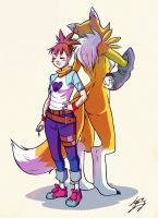 Ruki and Renamon by Keino-Evans