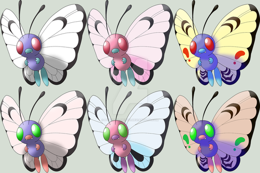 The Six kinds of Butterfree by Pokemon-Mento