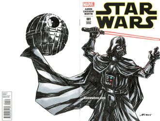 Darth Vader Star Wars sketch cover by nguy0699