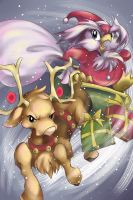 Delibird and Stantler Christmas