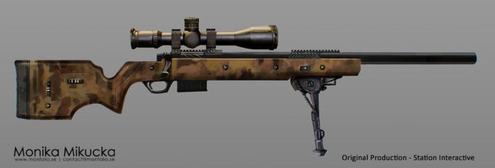 Weapon Concept art - rifle 01 by Monkanponk