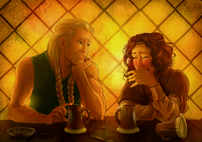 Commission: At Tavern with You by Afterlaughs