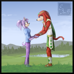 Knuckles and Natalee by BUGHS-22