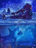 Shipwreck in Antartica by Renata-s-art