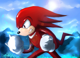 Knuckles by PinkPuffKirby