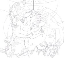 Canvas Of Life Lineart by Toradh