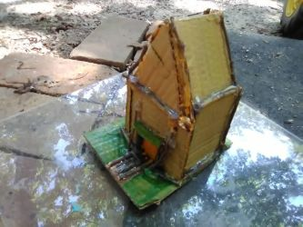 mini house with wood  by Hellrazer544