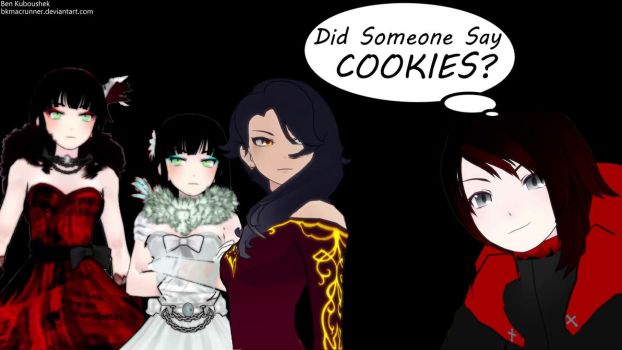 Ruby thought she heard Cookies!!! by bkmacrunner