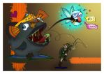 A Bad Fishing Day - Artwork by shadowed-light-waves