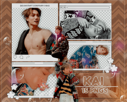 [PNG PACK #855] Kai - EXO (W KOREA NOVEMBER 2018) by fairyixing