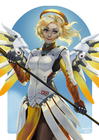 [Overwatch] Mercy. by Imagin-Aria