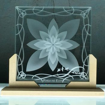Lotus-Flower-Etched-Glass-Infinity-Birds-Custom by ImaginedGlass