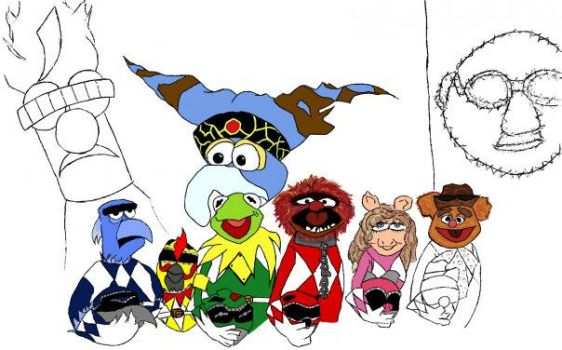 Go Go Power Muppets WIP by Silly-JuiceBox