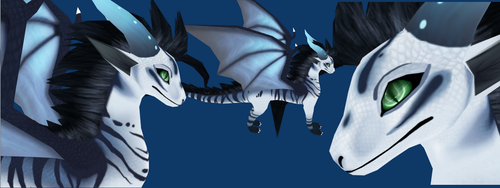 Finished young dragon model by Meegz0