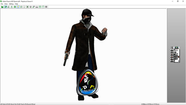 Aiden Pearce WD Ppaercraft by DUMDUMBOT