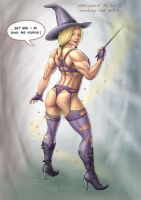 Witch : from old to young by LovBlondGirlMuscled