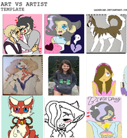Art VS Artist meme 2017 by emmbug124