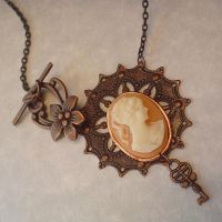 Steampunk Cameo in Copper by leiko